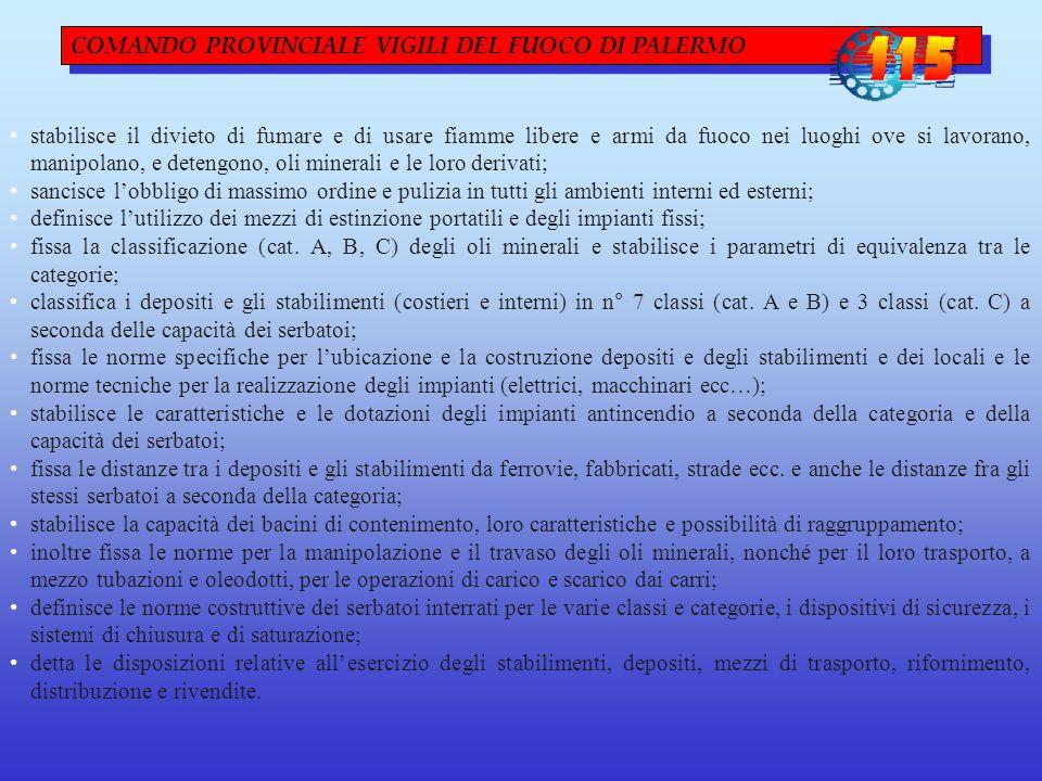 COMANDO PROVINCIALE VIGILI DEL FUOCO DI PALERMO
