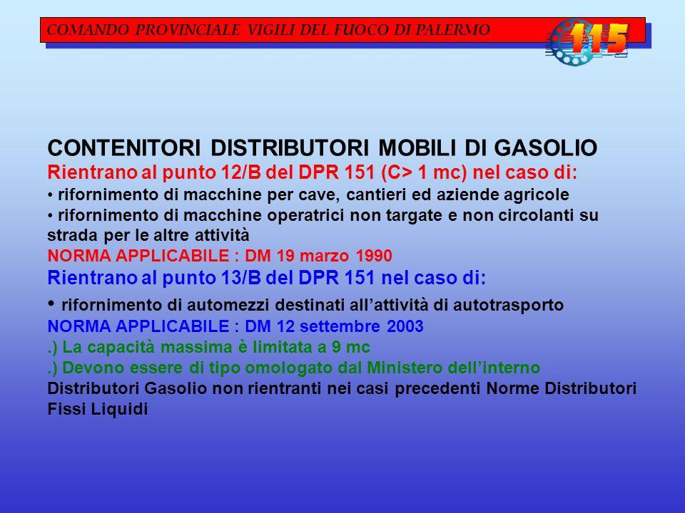 CONTENITORI DISTRIBUTORI MOBILI DI GASOLIO
