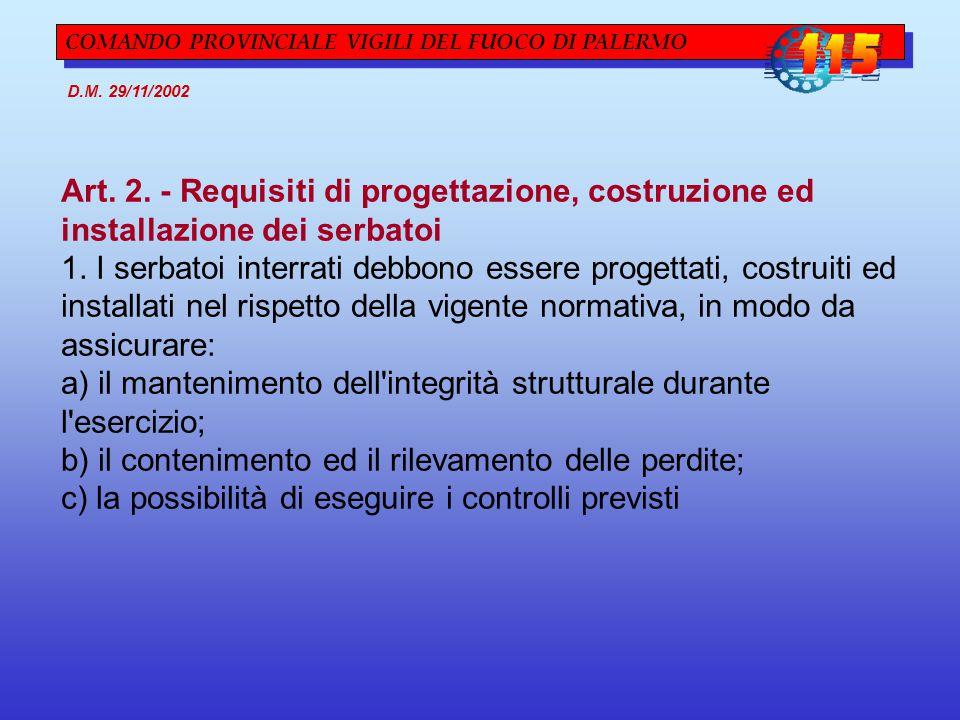 Art. 2. - Requisiti di progettazione, costruzione ed