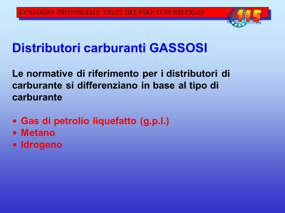 Distributori carburanti GASSOSI