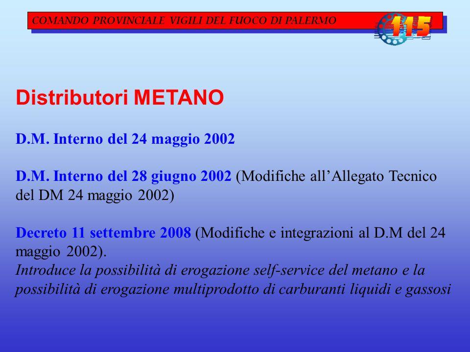 Distributori METANO D.M. Interno del 24 maggio 2002