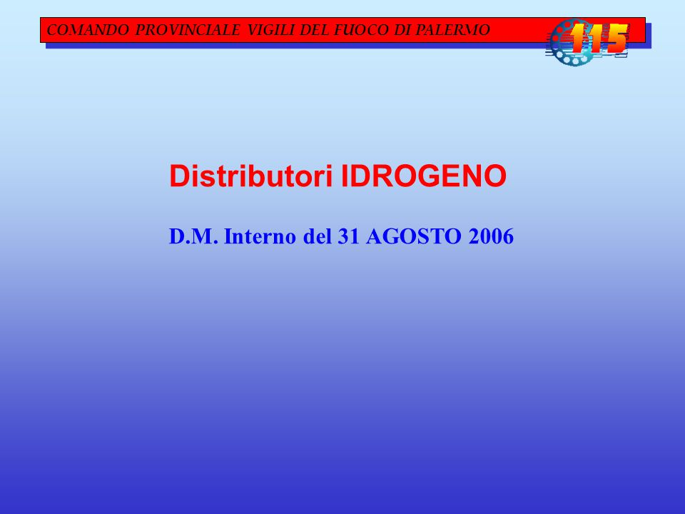 Distributori IDROGENO