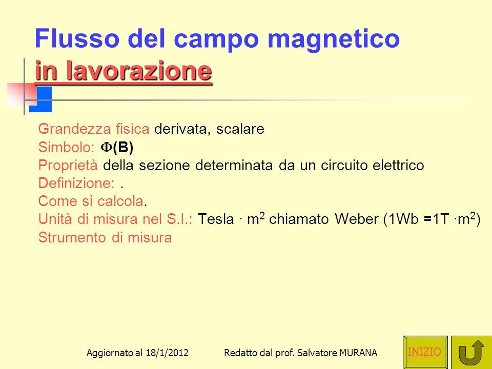 Flusso del campo magnetico in lavorazione
