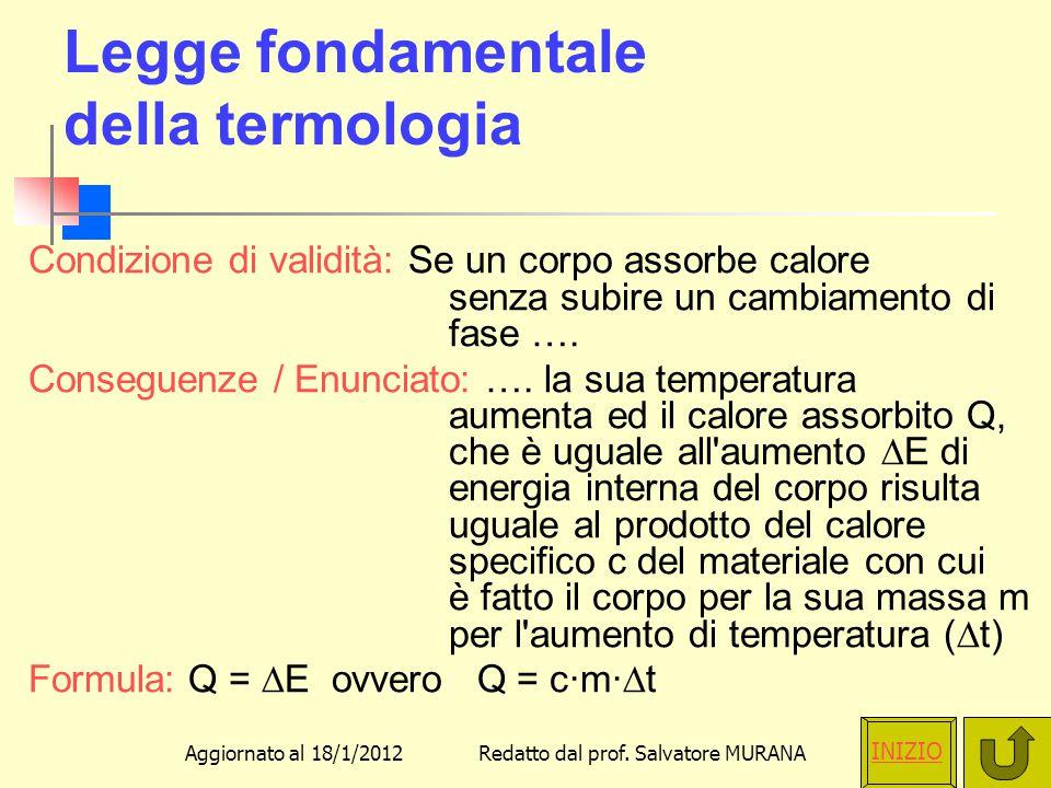 Legge fondamentale della termologia
