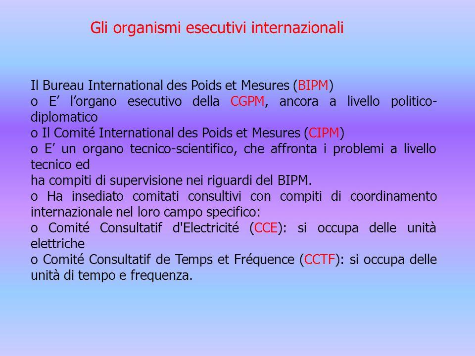 Gli organismi esecutivi internazionali