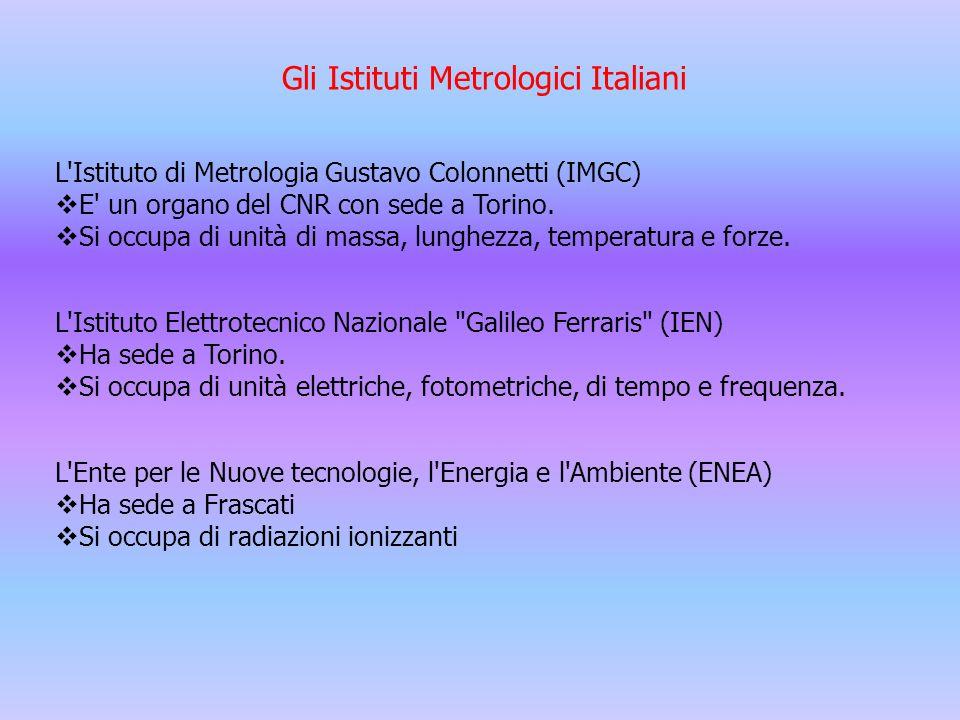 Gli Istituti Metrologici Italiani