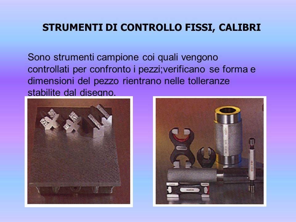 STRUMENTI DI CONTROLLO FISSI, CALIBRI