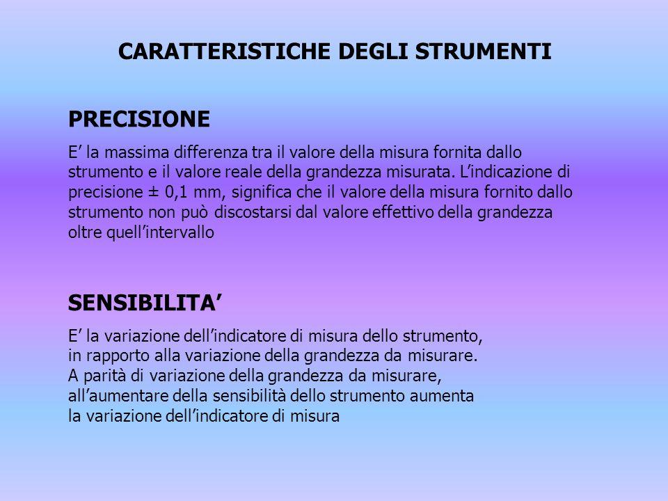 CARATTERISTICHE DEGLI STRUMENTI