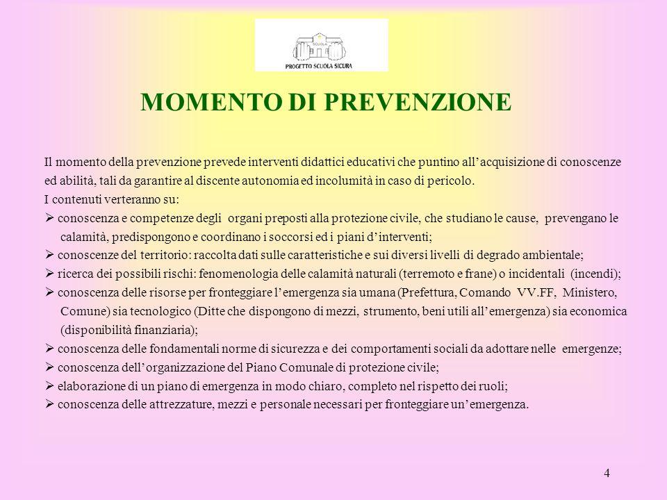 MOMENTO DI PREVENZIONE