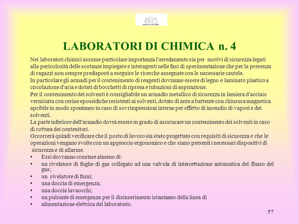 LABORATORI DI CHIMICA n. 4