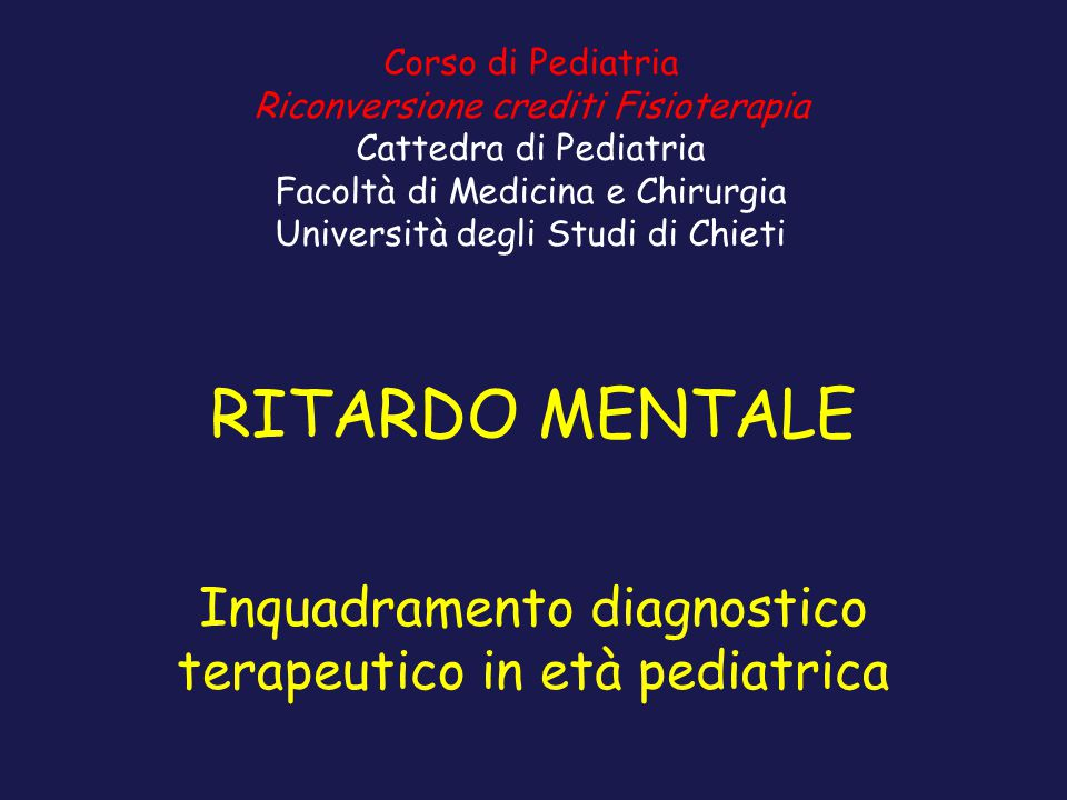Inquadramento diagnostico terapeutico in età pediatrica