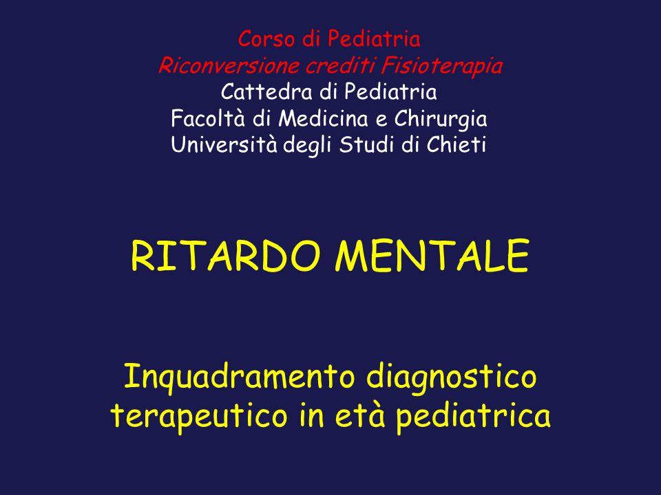 Inquadramento diagnostico terapeutico in età pediatrica