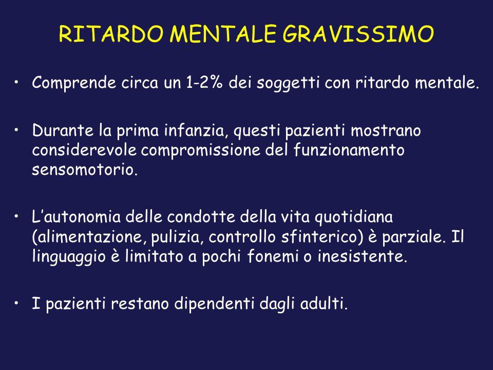 RITARDO MENTALE GRAVISSIMO