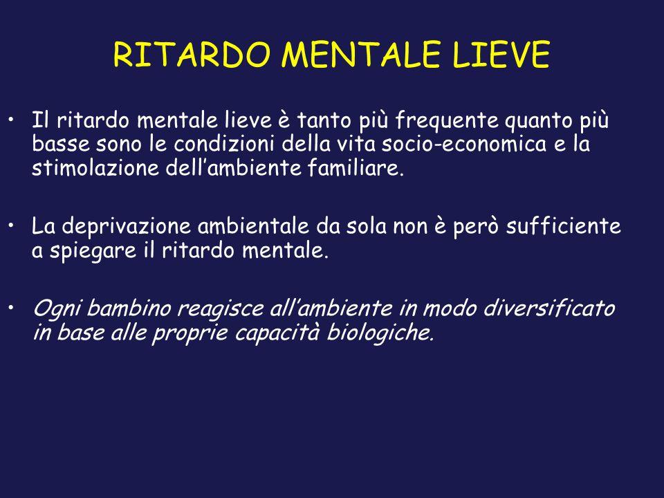 RITARDO MENTALE LIEVE