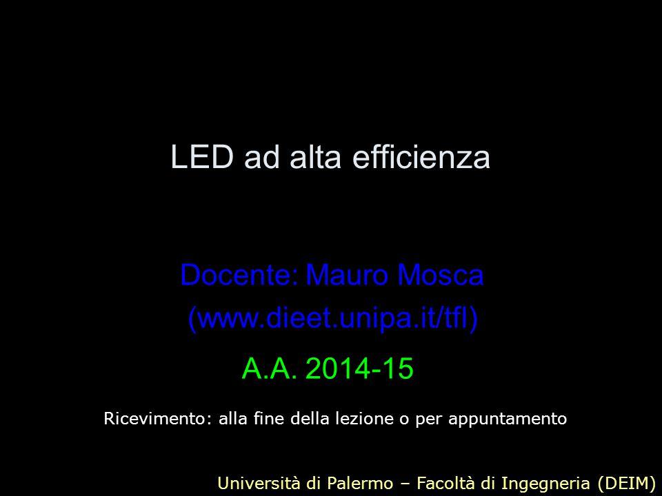 Docente: Mauro Mosca (www.dieet.unipa.it/tfl)