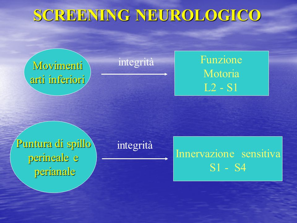 SCREENING NEUROLOGICO