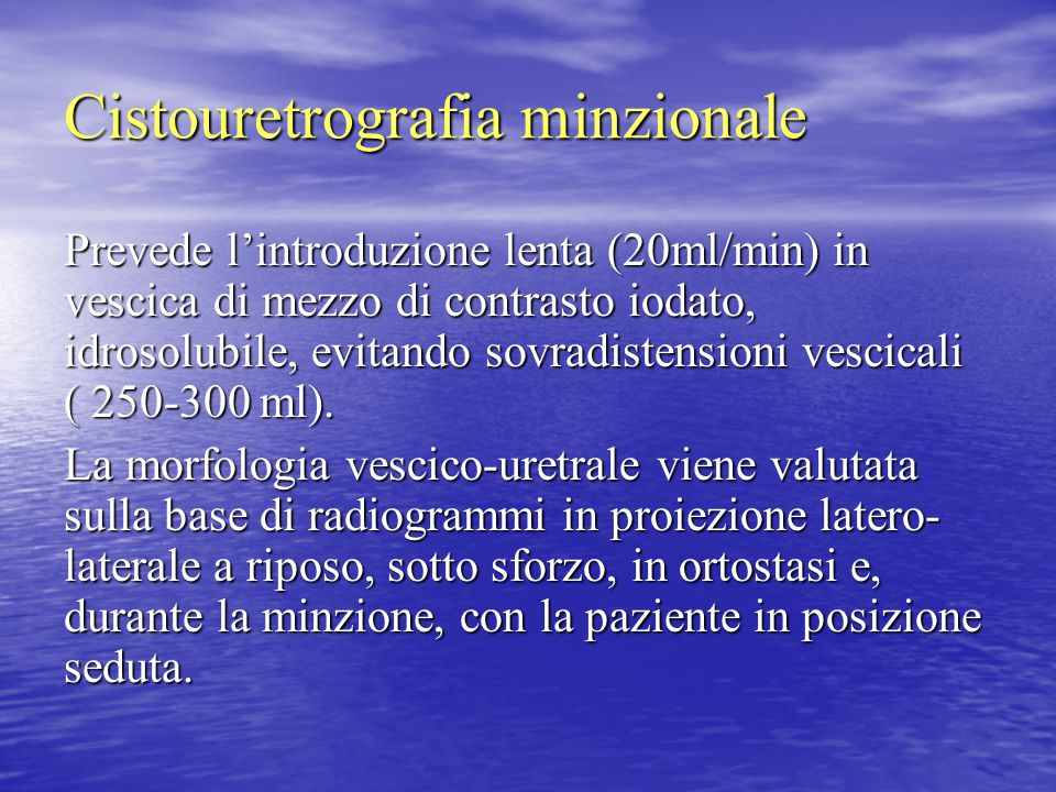 Cistouretrografia minzionale