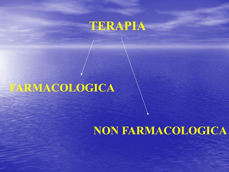 TERAPIA FARMACOLOGICA NON FARMACOLOGICA