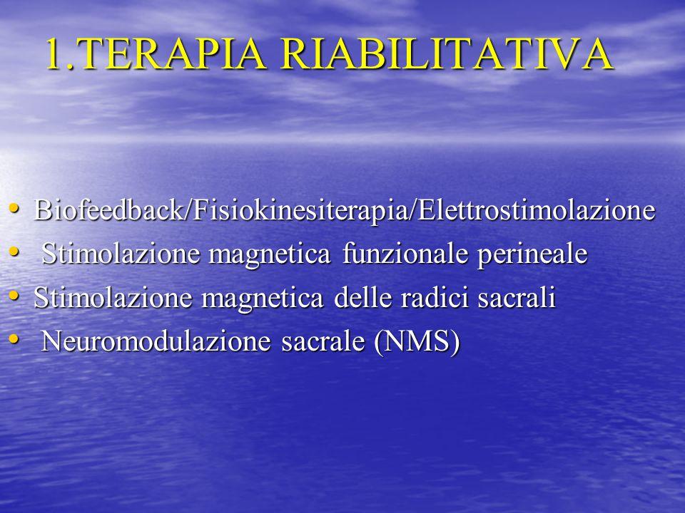 1.TERAPIA RIABILITATIVA
