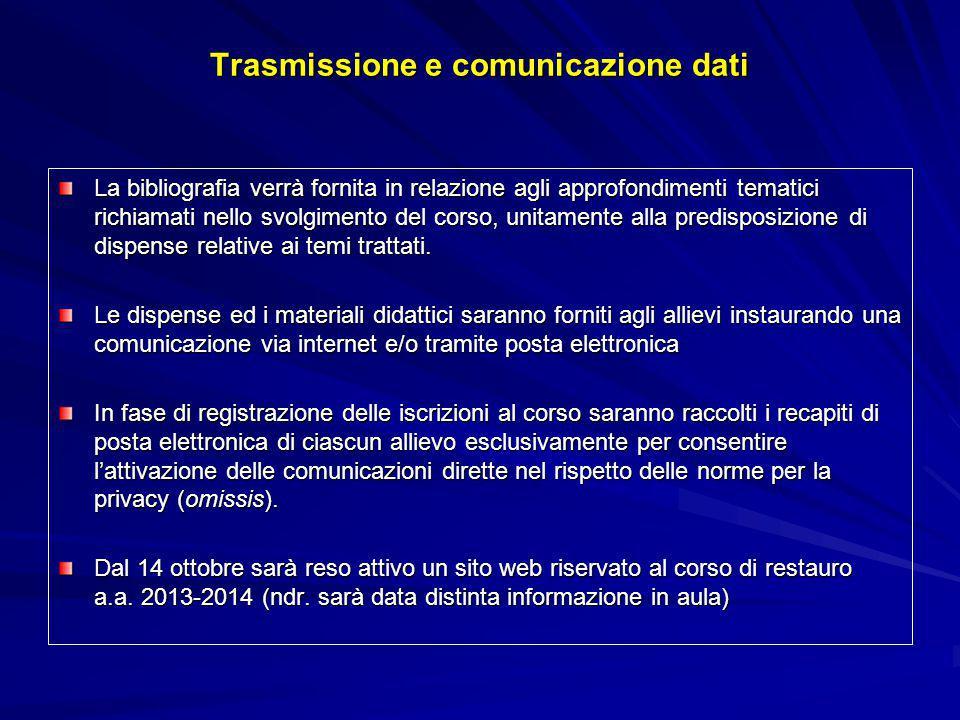 Trasmissione e comunicazione dati