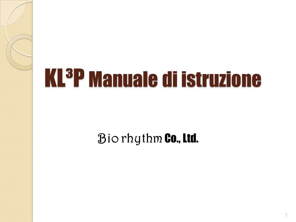 KL³P Manuale di istruzione