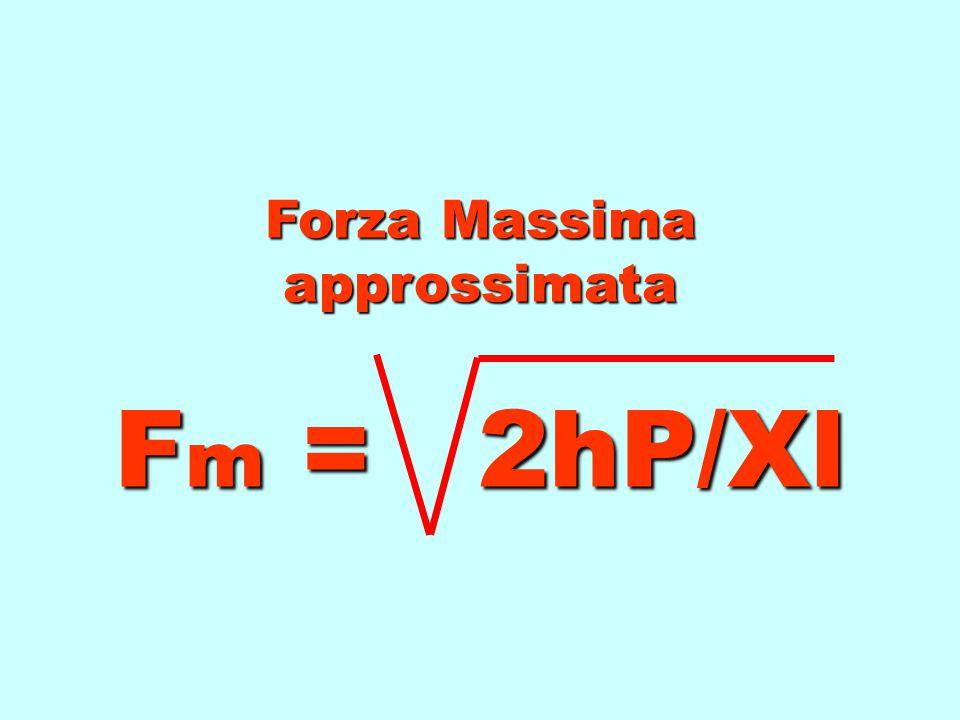 Forza Massima approssimata Fm = 2hP/Xl