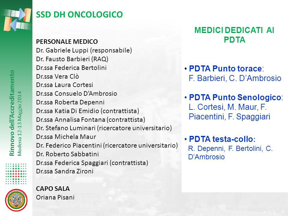 MEDICI DEDICATI AI PDTA