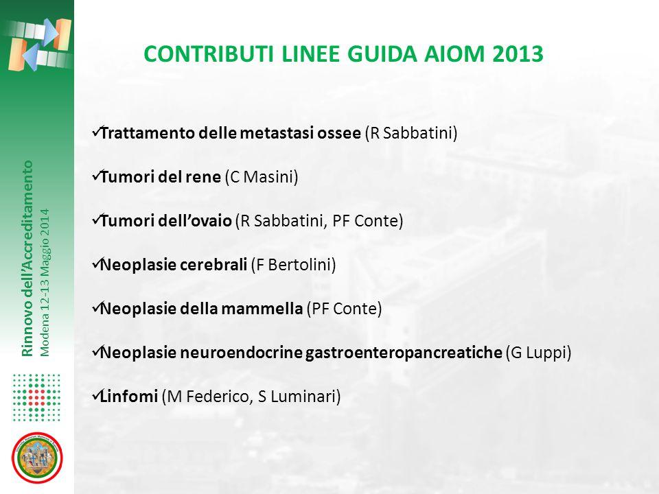 CONTRIBUTI LINEE GUIDA AIOM 2013