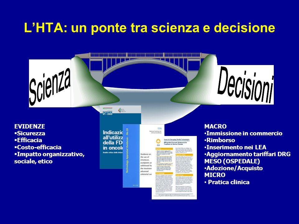 L'HTA: un ponte tra scienza e decisione