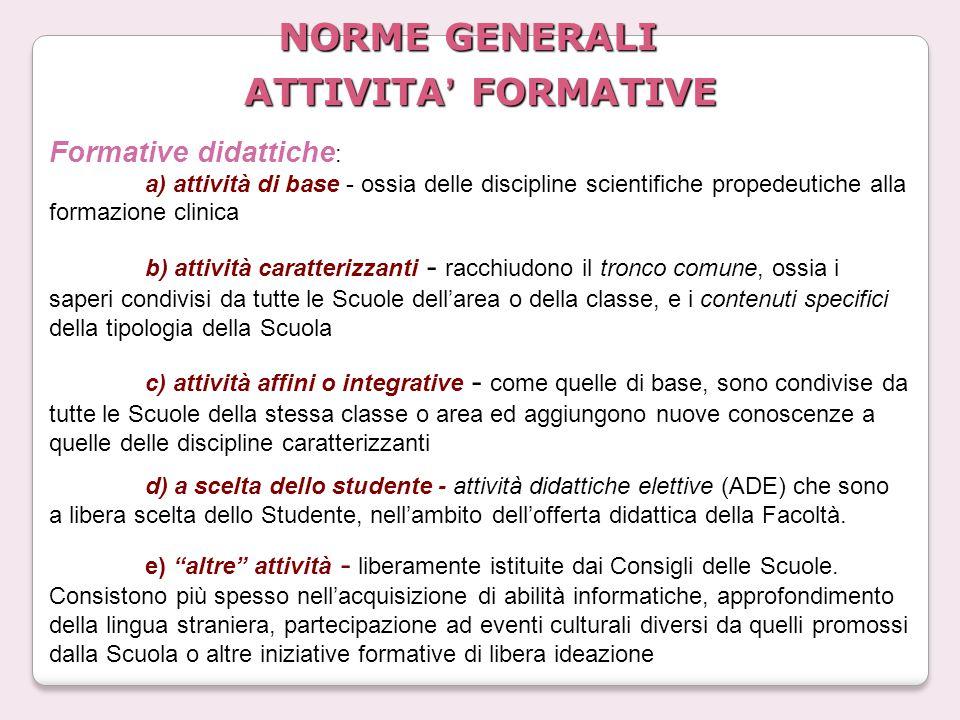 NORME GENERALI ATTIVITA' FORMATIVE
