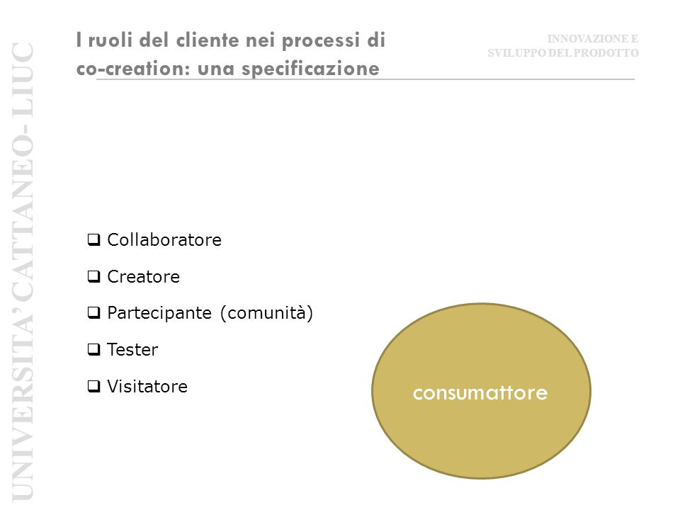 I ruoli del cliente nei processi di co-creation: una specificazione