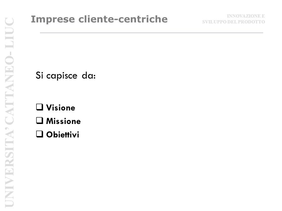 Imprese cliente-centriche