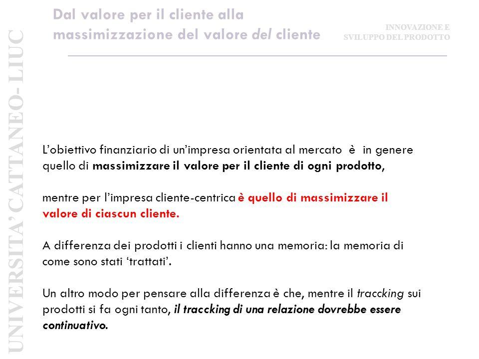 Dal valore per il cliente alla massimizzazione del valore del cliente