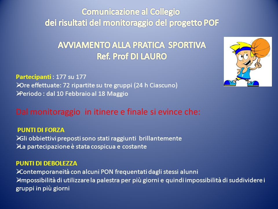 Comunicazione al Collegio