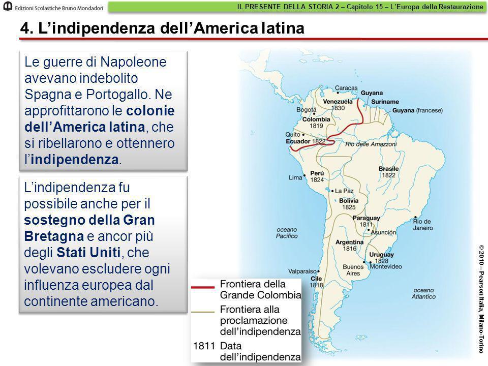 4. L'indipendenza dell'America latina
