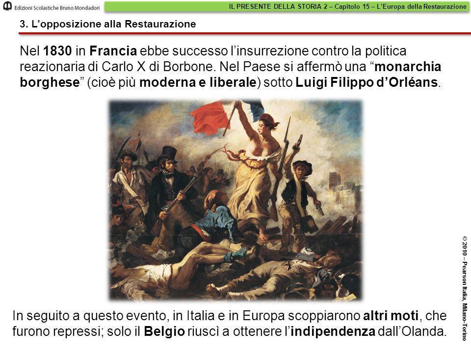 IL PRESENTE DELLA STORIA 2 – Capitolo 15 – L'Europa della Restaurazione