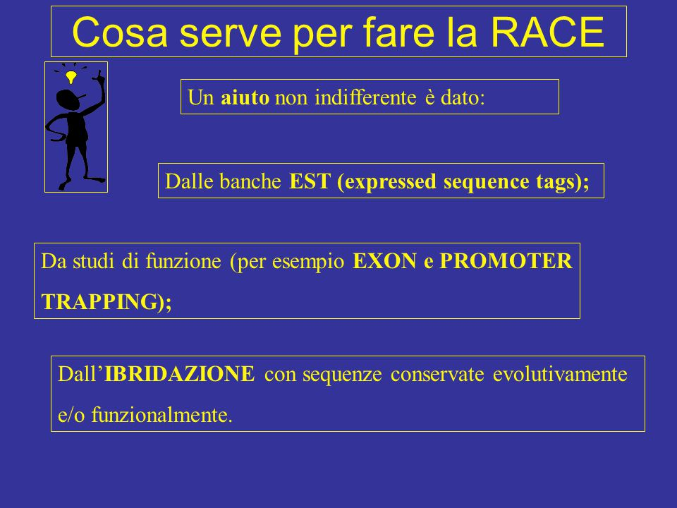 Cosa serve per fare la RACE