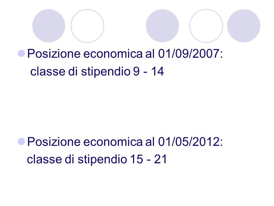 Posizione economica al 01/09/2007: