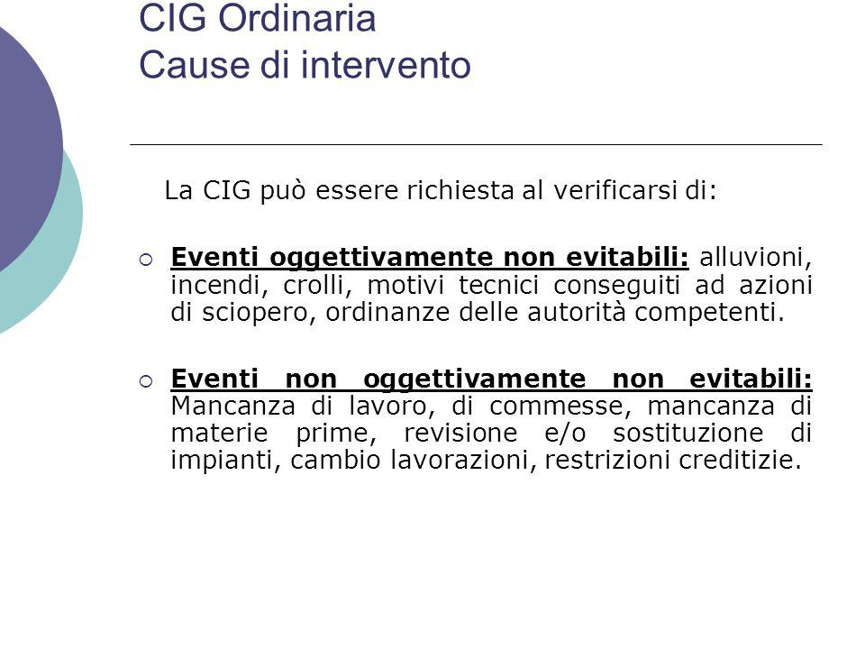 CIG Ordinaria Cause di intervento