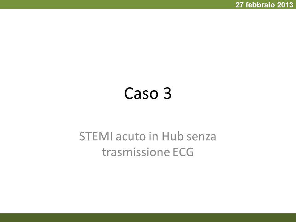 STEMI acuto in Hub senza trasmissione ECG