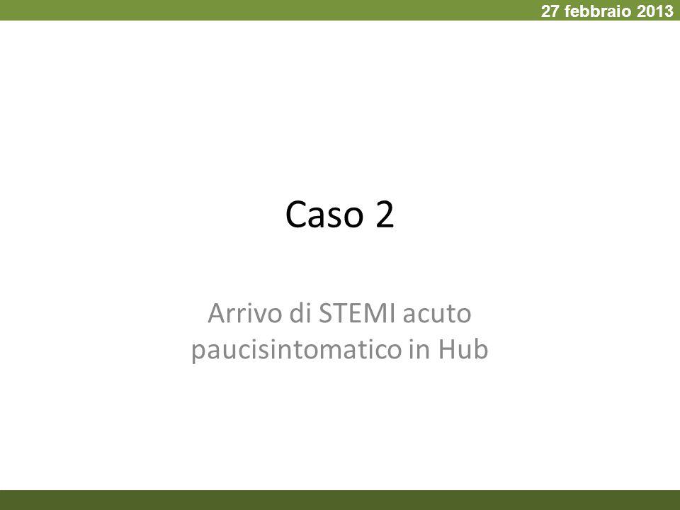 Arrivo di STEMI acuto paucisintomatico in Hub