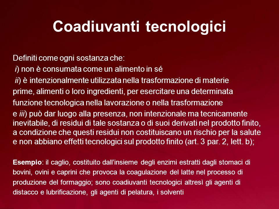 Coadiuvanti tecnologici