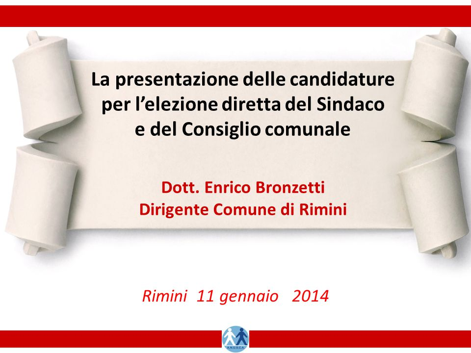 La presentazione delle candidature per l'elezione diretta del Sindaco