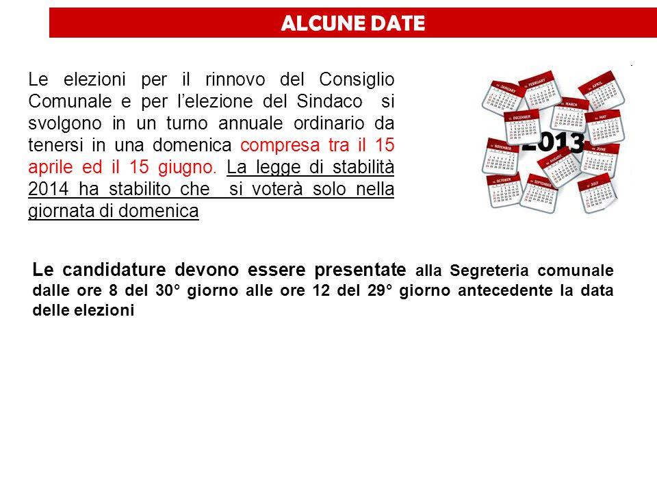 ALCUNE DATE