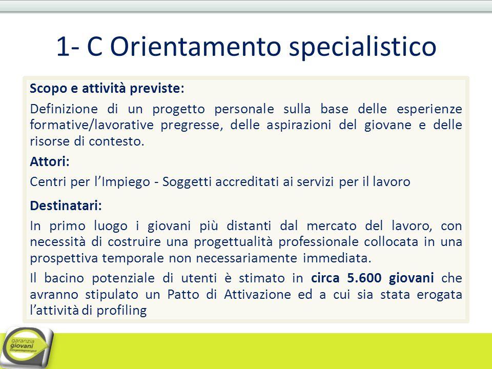 1- C Orientamento specialistico
