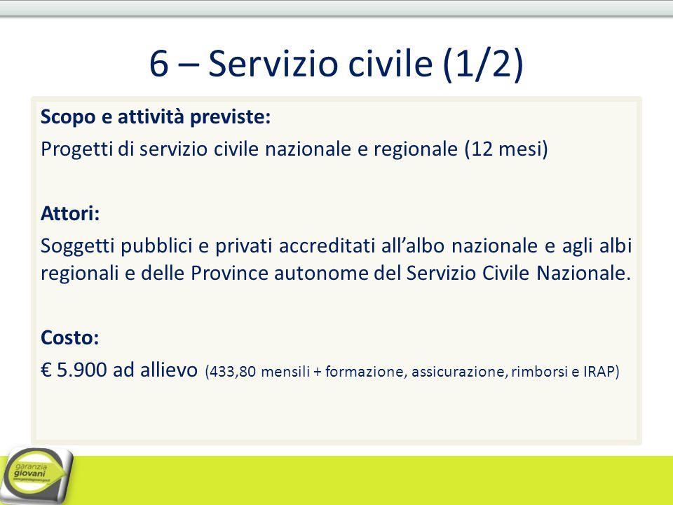 6 – Servizio civile (1/2)