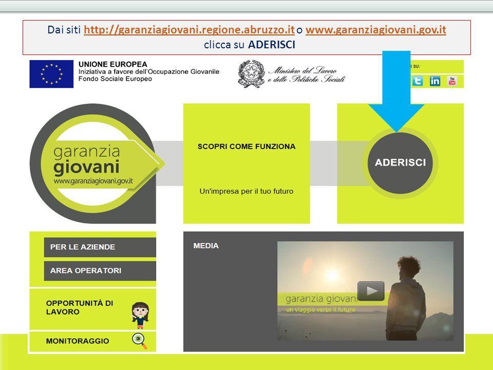 Dai siti http://garanziagiovani. regione. abruzzo. it o www