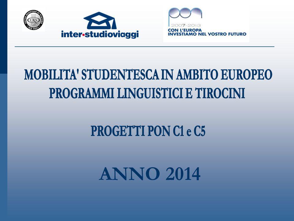 ANNO 2014 MOBILITA STUDENTESCA IN AMBITO EUROPEO