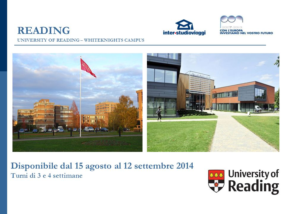 READING UNIVERSITY OF READING – WHITEKNIGHTS CAMPUS