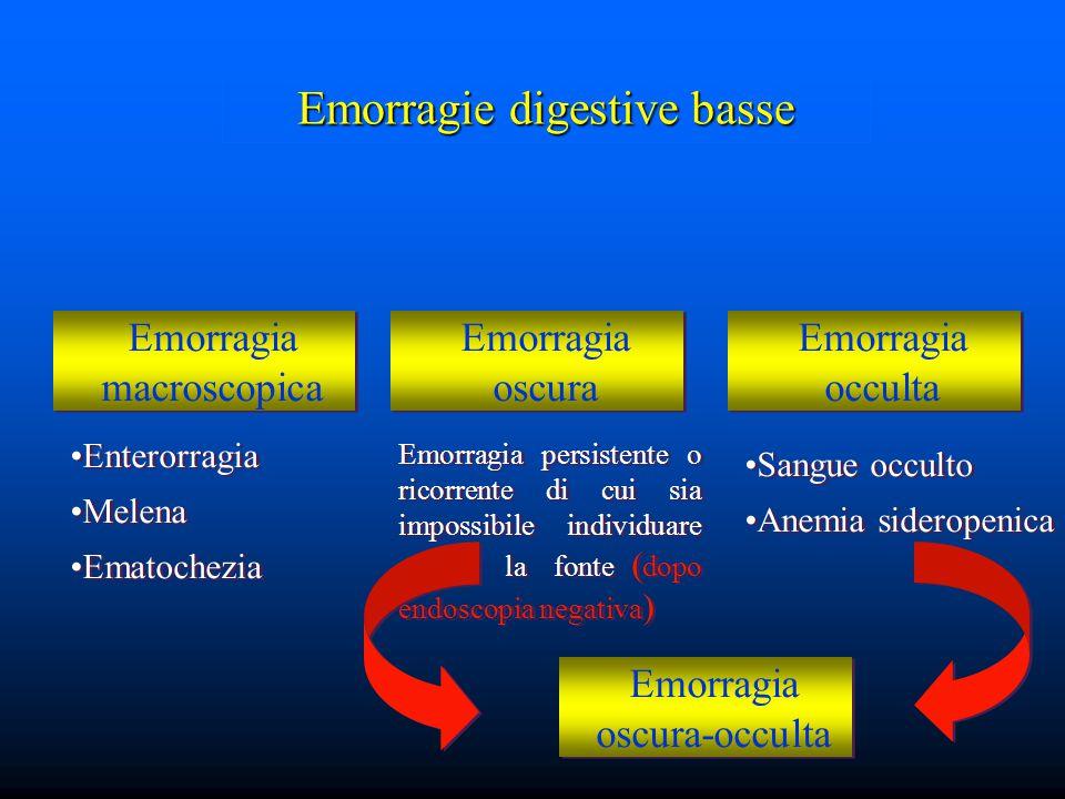 Emorragie digestive basse